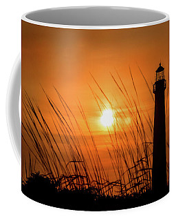 Sunset At Cm Lighthouse Coffee Mug