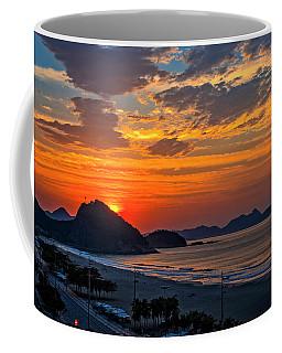 Sunset At Copacabana Coffee Mug