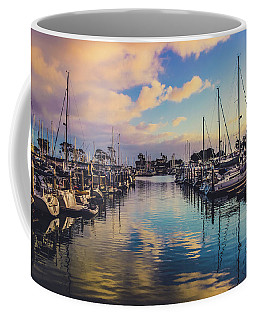 Coffee Mug featuring the photograph Sunset At Dana Point Harbor by Andy Konieczny