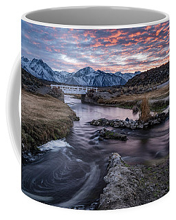Sunset At Hot Creek Coffee Mug