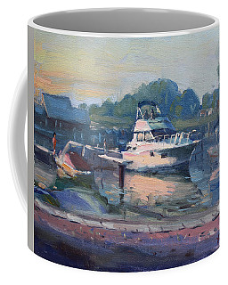 Sunset At Kellys And Jassons Boat Coffee Mug