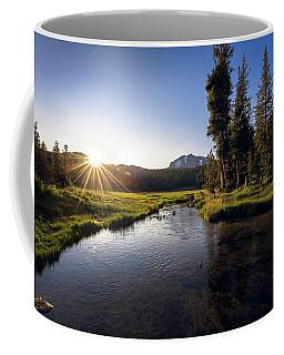 Sunset At Kings Creek In Lassen Volcanic National Coffee Mug