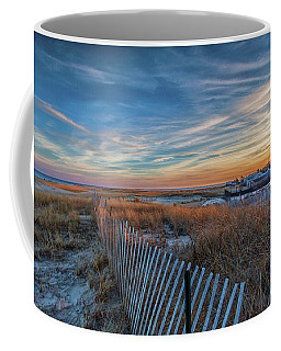 Sunset At Lighthouse Beach In Chatham Massachusetts Coffee Mug