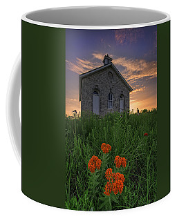 Sunset At Lower Fox Creek Schoolhouse Coffee Mug