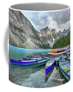 Sunset At Moraine Lake Coffee Mug