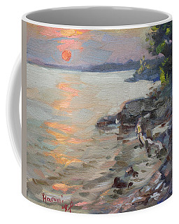 Sunset At Niagara River Coffee Mug