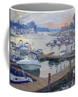 Sunset At North Tonawanda Harbor Coffee Mug