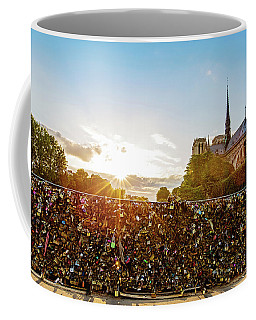Sunset At Notre Dame De Paris Coffee Mug