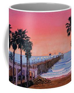 Sunset At Oceanside Pier Coffee Mug