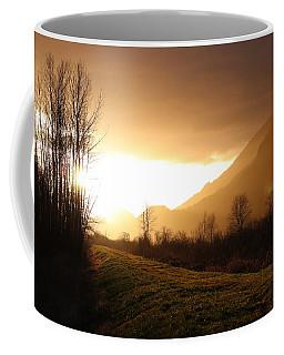 Sunset At Pitt Lake Dyke Coffee Mug