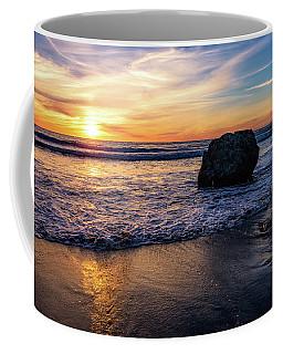 Sunset At San Simeon Beach Coffee Mug