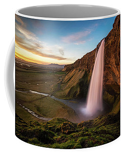 Sunset At Seljalandsfoss Coffee Mug