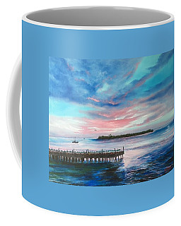Sunset At Sunset Pier Tiki Bar Key West Coffee Mug