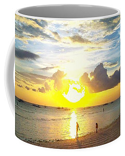 Sunset At The Beach Coffee Mug