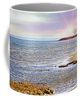 Sunset At The Beach - Tod's Point Coffee Mug