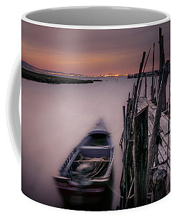 Sunset At The Dock Coffee Mug by Marion McCristall