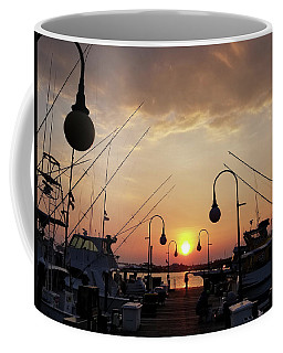 Sunset At The End Of The Talbot St Pier Coffee Mug