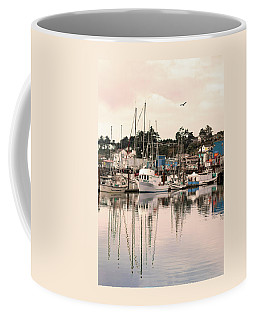 Coffee Mug featuring the photograph Sunset At The Marina by Diane Schuster