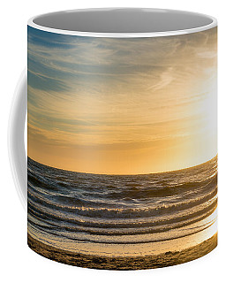 Coffee Mug featuring the photograph sunset at the North Sea by Hannes Cmarits