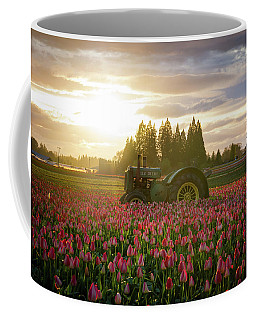 Sunset At The Tulip Farm Coffee Mug