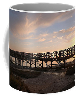 Sunset At The Wooden Bridge Coffee Mug by Angelo DeVal