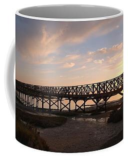 Sunset At The Wooden Bridge Coffee Mug