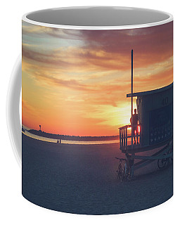 Sunset At Toes Beach Coffee Mug