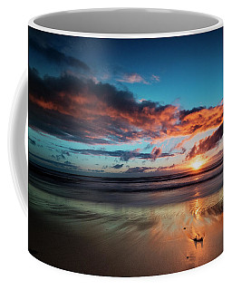 Sunset At Unstad Beach, Norway Coffee Mug