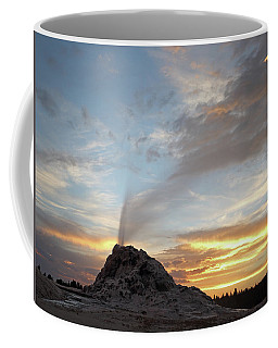 Sunset At White Dome Geyser Coffee Mug