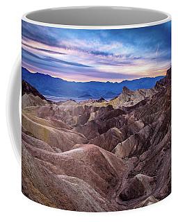 Sunset At Zabriskie Point In Death Valley National Park Coffee Mug