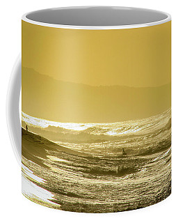 Sunset Beach Aglow  Coffee Mug