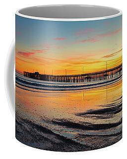 Sunset Beyond The Pier Coffee Mug