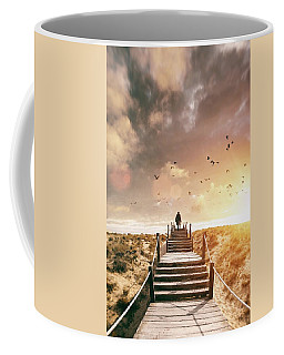 Sunset Boardwalk Coffee Mug