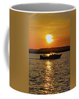 Sunset Boat Coffee Mug