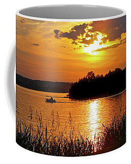 Sunset Boater, Smith Mountain Lake Coffee Mug