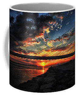 Sunset Bridge At Indian River Inlet Coffee Mug