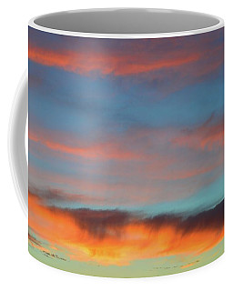 Sunset Clouds In Blue Sky  Coffee Mug by Lyle Crump