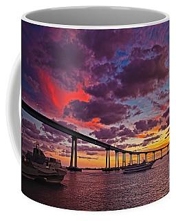 Sunset Crossing At The Coronado Bridge Coffee Mug