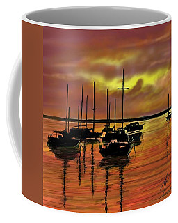 Coffee Mug featuring the digital art Sunset by Darren Cannell
