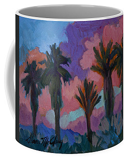 Coffee Mug featuring the painting Sunset by Diane McClary