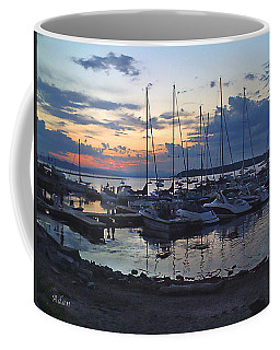 Coffee Mug featuring the photograph Sunset Dock by Felipe Adan Lerma