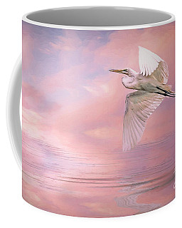 Sunset Egret Coffee Mug