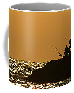 Sunset Fishermen Coffee Mug