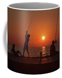 Sunset Fishermenr Coffee Mug