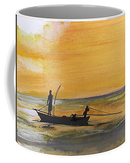 Sunset Fishing Coffee Mug