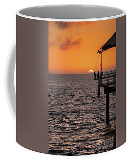 Coffee Mug featuring the photograph Sunset Fishing by Ray Warren