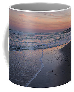 Coffee Mug featuring the photograph Sunset Fishing Seaside Park Nj by Terry DeLuco