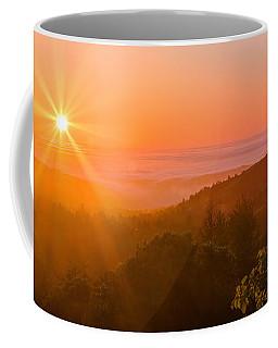 Sunset Fog Over The Pacific #1 Coffee Mug