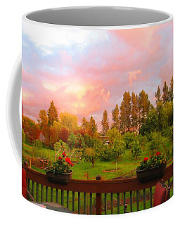 Sunset From The Back Deck Coffee Mug