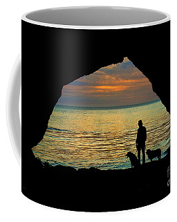 Sunset From The Seacave Coffee Mug